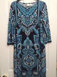 Chico's Blue Print Dress